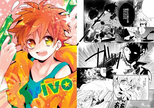 Tags: Anime, Ichi Kotoko, Katekyo Hitman REBORN!, Rokudou Mukuro, Hibari Kyoya, Sawada Tsunayoshi, Reborn, Tonfa, Pixiv, Fanart, Comic