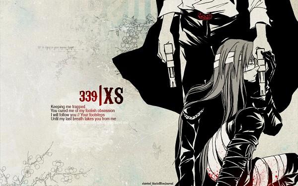 Tags: Anime, Hage, Katekyo Hitman REBORN!, Superbi Squalo, Xanxus, Text: Couple Name, Colorization, Doujinshi Page, Wallpaper