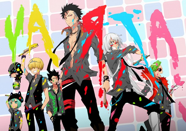 Tags: Anime, Danemaru, Katekyo Hitman REBORN!, Xanxus, Superbi Squalo, Belphegor, Fran, Leviathan (Katekyo Hitman REBORN!), Mammon, Lussuria, Frog Hat, Square, Boa
