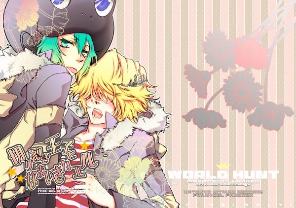 Tags: Anime, Jun Arishi, WORLD HUNT, Katekyo Hitman REBORN!, Belphegor, Fran, Frog Hat, Pixiv, Fanart