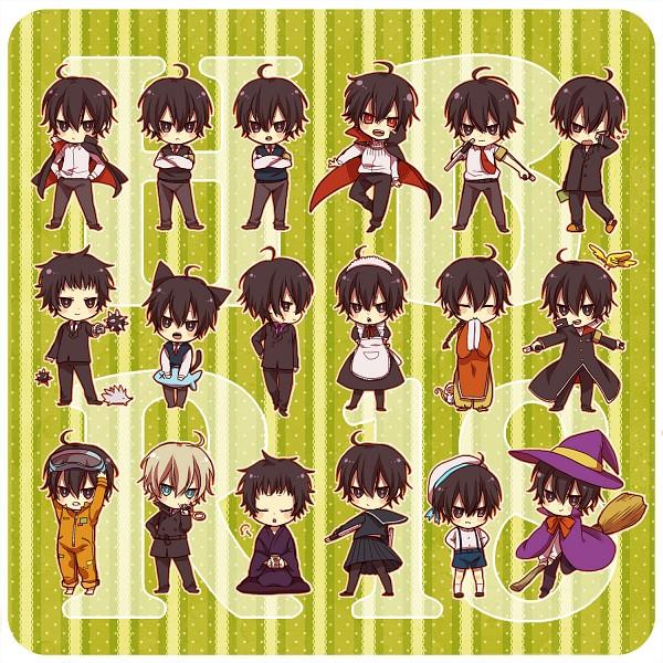 Tags: Anime, Akua, Katekyo Hitman REBORN!, Monster Tamer Tsuna, Hibarin, Roll (KHR), Alaude, Hibari Kyoya, Hibird, Fon, Tonfa, Hedgehog, Fanart