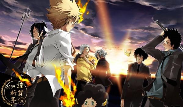Tags: Anime, Yun (Neo), Katekyo Hitman REBORN!, Hibird, Rokudou Mukuro, Sawada Tsunayoshi, Adult Lambo, Gokudera Hayato, Lambo, Yamamoto Takeshi, Sasagawa Ryohei, Hibari Kyoya, Sunrise
