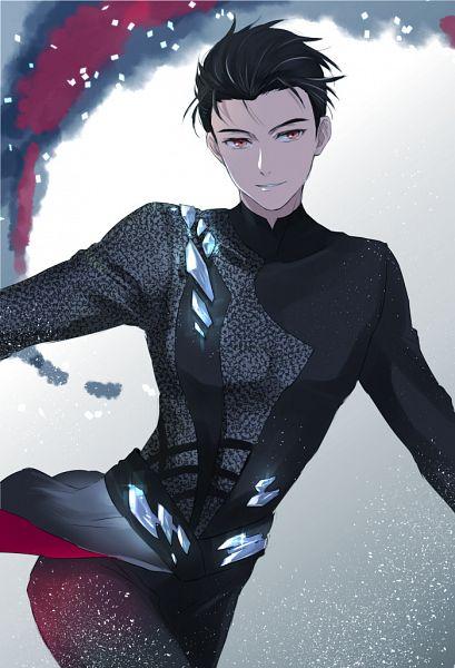 Tags: Anime, Orii (Pixiv1123766), Yuri!!! On Ice, Katsuki Yuuri, Ice Skating, Figure Skating, Mobile Wallpaper, Pixiv, Fanart From Pixiv, PNG Conversion, Fanart