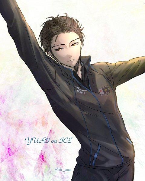 Tags: Anime, Pixiv Id 950041, Yuri!!! On Ice, Katsuki Yuuri, 4:5 Ratio, Skating, Wallpaper