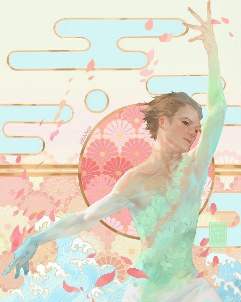Tags: Anime, Awanqi, Yuri!!! On Ice, Katsuki Yuuri, Ice Skating, Figure Skating, Waves, Pixiv