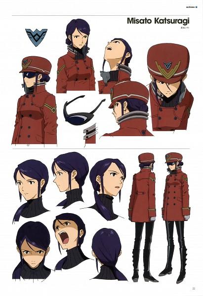 Tags: Anime, Neon Genesis Evangelion, Evangelion 3.0 Theatrical Booklet, Katsuragi Misato, Character Sheet, Scan, Mobile Wallpaper, Official Art