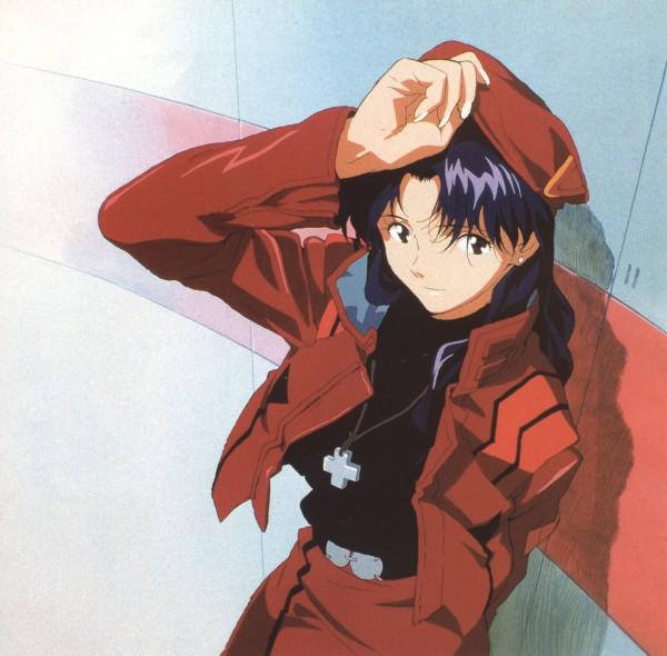 Tags: Anime, Neon Genesis Evangelion, Die Sterne, Katsuragi Misato, Official Art, Scan