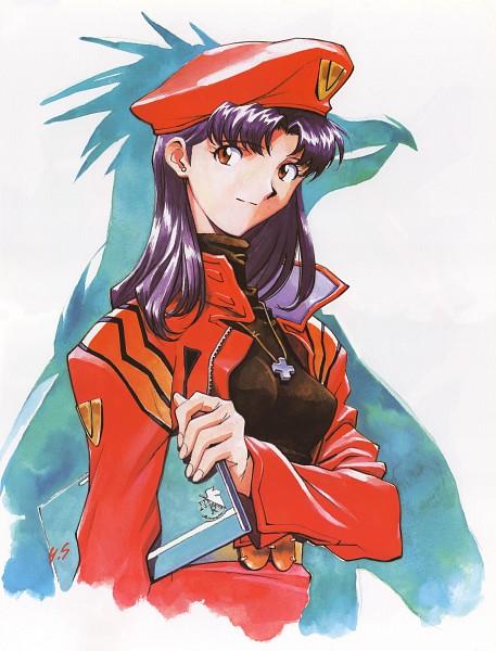 Tags: Anime, Yoshiyuki Sadamoto, Neon Genesis Evangelion, Der Mond, Katsuragi Misato, Pen², Scan, Official Art