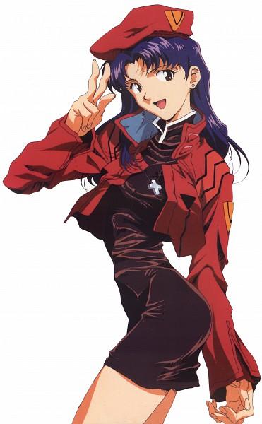 Tags: Anime, Honda Takeshi, Gainax, Neon Genesis Evangelion, Die Sterne, Katsuragi Misato, Mobile Wallpaper, Scan, Official Art