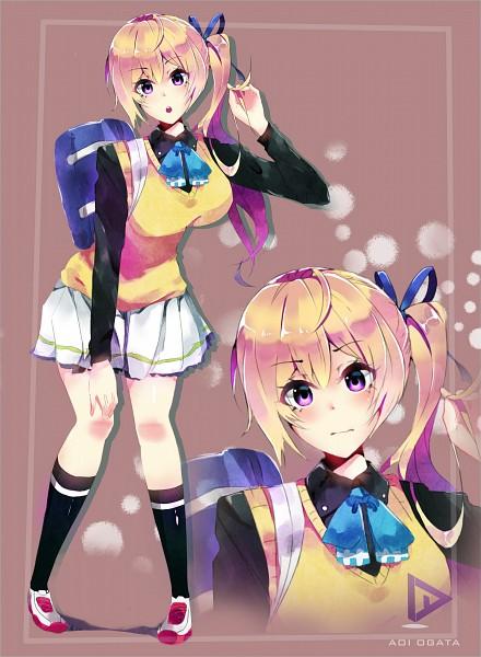 Tags: Anime, Aoi Ogata, Musaigen no Phantom World, Kawakami Mai, Pixiv, Fanart, Fanart From Pixiv, Mobile Wallpaper, Self Made