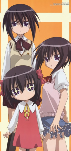 Tags: Anime, Yanagi Shinsuke, Bamboo Blade, Megami #94 2008-03, Kawazoe Tamaki, Age Progression, Official Art, Magazine (Source), Scan