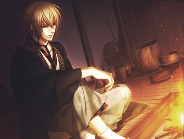Tags: Anime, Kazuki Yone, IDEA FACTORY, Hakuouki Shinsengumi Kitan, Kazama Chikage, Scan, CG Art