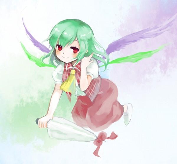 Tags: Anime, Pixiv Id 11455990, Seihou, Touhou, Kazami Yuuka, Kazami Yuuka (Seihou), Closed Umbrella, Kioh Gyoku