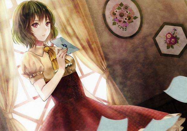 Tags: Anime, Fukahire, Touhou, Kazami Yuuka, Stationery, Painting (Object), Scan, Yuuka Kazami