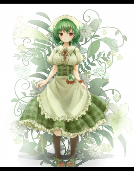 Tags: Anime, Shironeko Yuuki, Touhou, Kazami Yuuka, Green Flower, Fanart From Pixiv, Fanart, Pixiv, Yuuka Kazami