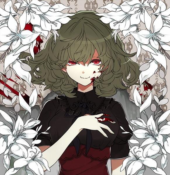 Tags: Anime, Pixiv Id 1179501, Touhou, Kazami Yuuka, White Lily, Wavy Mouth, Pixiv, Fanart From Pixiv, Fanart, PNG Conversion, Yuuka Kazami