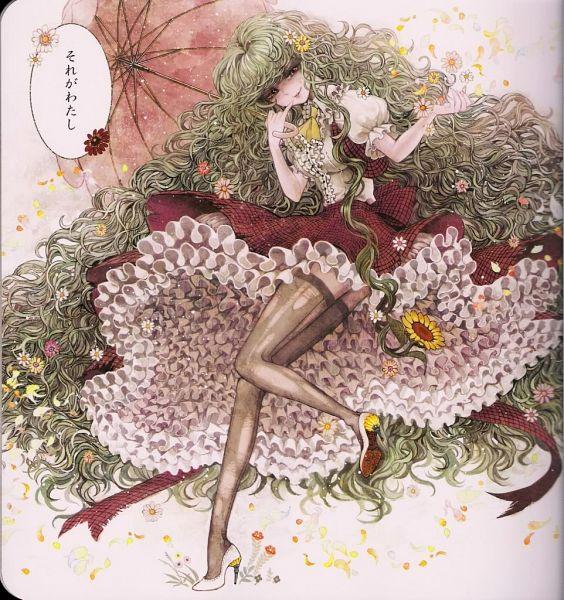 Tags: Anime, Takatora, Touhou, Kazami Yuuka, Scan Artifacts, Daffodil, Scan, Pixiv, Yuuka Kazami