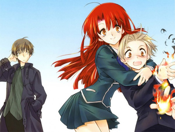 Tags: Anime, Nanto Hanamaru, Kaze no Stigma, Kannagi Ayano, Kannagi Ren, Kannagi Kazuma, Official Art