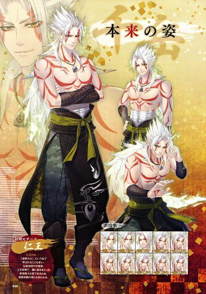 Tags: Anime, miko (Artist), IDEA FACTORY, Toki no Kizuna Official Fanbook ~Sekigahara Kitan~, Toki no Kizuna, Kazutake, Character Sheet, Scan, Mobile Wallpaper, Official Art