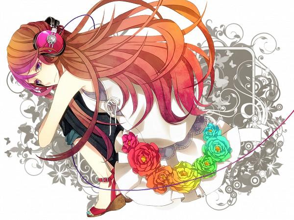 Tags: Anime, MACCO, Kurenai (Nico Nico Singer), Green Flower, Pixiv, Keep Only One Love, Wallpaper, Nico Nico Singer