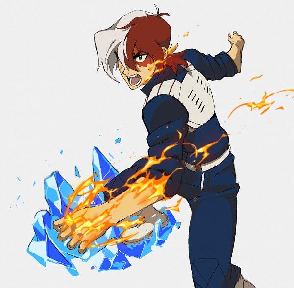 Tags: Anime, Misterunagi, Voltron: Legendary Defender, Keith Kogane, Todoroki Shouto (Cosplay), Boku no Hero Academia (Parody), Tumblr, Fanart, Fanart From Tumblr