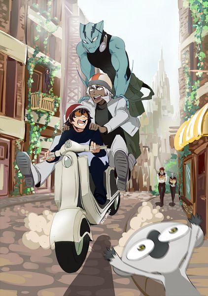 Tags: Anime, Pixiv Id 13928880, Kekkai Sensen, Gilbert F. Altstein, Zapp Renfro, Leonardo Watch, Zed O'Brien, Chain Sumeragi, Sonic Speed Monkey, Klaus V. Reinherz, Mobile Wallpaper, PNG Conversion