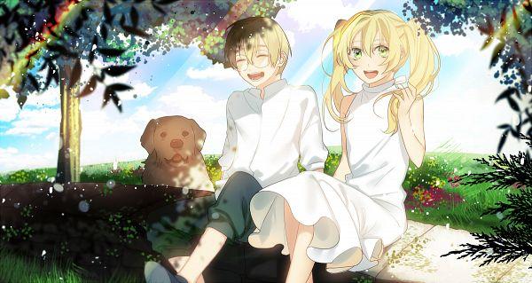Tags: Anime, Kyoma (Artist), Kekkai Sensen, Black (Kekkai Sensen), White (Kekkai Sensen), PNG Conversion
