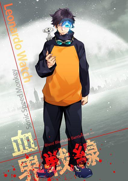 Tags: Anime, Rui Yuda, Kekkai Sensen, Sonic Speed Monkey, Leonardo Watch, Mobile Wallpaper