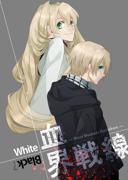 Tags: Anime, Rui Yuda, Kekkai Sensen, Black (Kekkai Sensen), White (Kekkai Sensen), Mobile Wallpaper