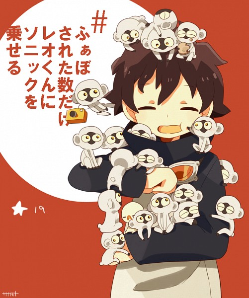 Tags: Anime, Pixiv Id 2589786, Kekkai Sensen, Sonic Speed Monkey, Leonardo Watch, Goggles Around Neck, Fanart From Pixiv, Pixiv, Fanart