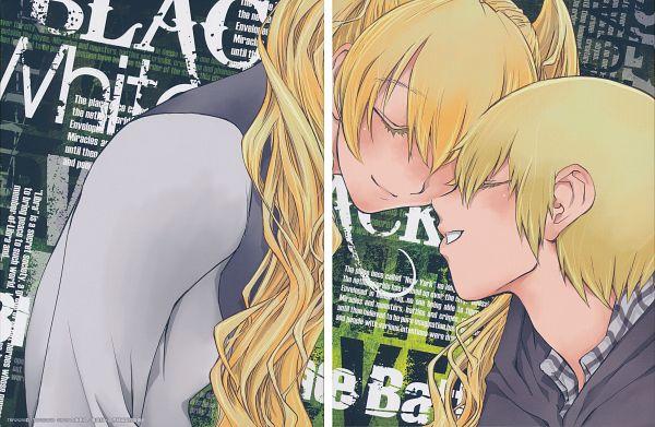 Tags: Anime, Nightow Yasuhiro, BONES (Studio), Kekkai Sensen, Black (Kekkai Sensen), White (Kekkai Sensen), Official Art, Scan, DVD (Source)