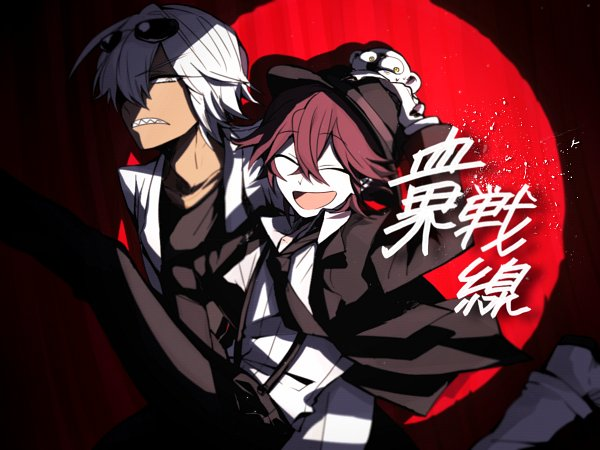 Tags: Anime, Pixiv Id 4657637, Kekkai Sensen, Leonardo Watch, Sonic Speed Monkey, Zapp Renfro, Red Curtain, Pixiv, Wallpaper