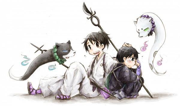 Tags: Anime, Pixiv Id 1214879, Kekkaishi, Madarao (Kekkaishi), Hakubi, Tokine Yukimura, Yoshimori Sumimura