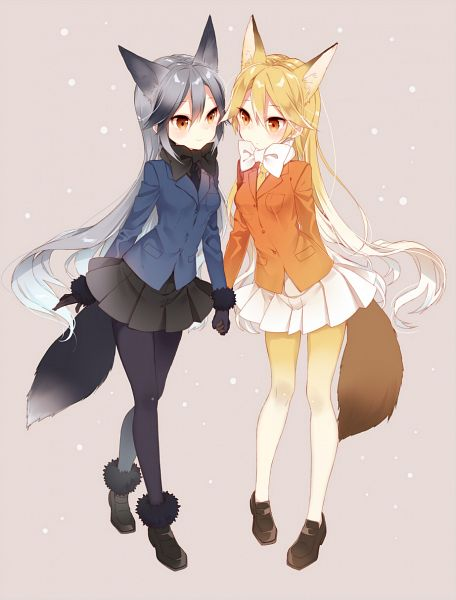 Tags: Anime, Naoto (Tulip), Kemono Friends, Ezo Red Fox (Kemono Friends), Silver Fox (Kemono Friends), Revision