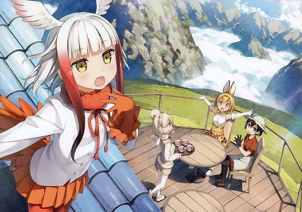Tags: Anime, Kantoku, Tachiyomi Senyou Vol.37, Kemono Friends, Suri Alpaca (Kemono Friends), Kaban (Kemono Friends), Serval (Kemono Friends), Crested Ibis (Kemono Friends), Scan