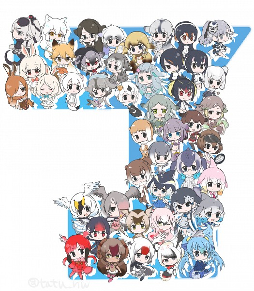 Tags: Anime, Tatsuno Newo, Kemono Friends, Small-clawed Otter (Kemono Friends), Platypus (Kemono Friends), Alaskan Sea Otter (Kemono Friends), Egyptian Goose (Kemono Friends), Gentoo Penguin (Kemono Friends), Mediterranean Monk Seal (Kemono Friends), Chinese White Dolphin (Kemono Friends), Steller's Sea Lion (Kemono Friends), Bearded Seal (Kemono Friends), Greater Flamingo (Kemono Friends)
