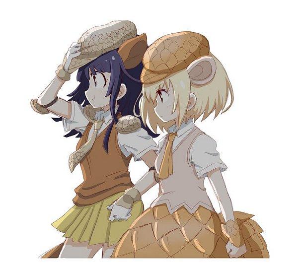 Tags: Anime, Pixiv Id 4807284, Kemono Friends, Giant Pangolin (Kemono Friends), Giant Armadillo (Kemono Friends), Pixiv, Fanart, Fanart From Pixiv