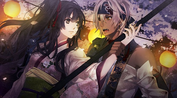 Tags: Anime, Yomi (Pixiv390297), Rejet, Ken ga Kimi, Kei (Ken ga Kimi), Kayo (Ken ga Kimi), Naginata, CG Art, Facebook Cover, Official Art