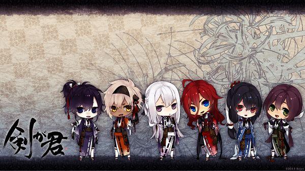 Tags: Anime, Rejet, Ken ga Kimi, Kei (Ken ga Kimi), Kuroba Saneaki, Suzukake, Enishi (Ken ga Kimi), Sagihara Sakyou, Tsuzuramaru, HD Wallpaper, Official Art, Facebook Cover, Official Wallpaper