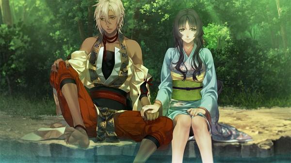 Tags: Anime, Yomi (Pixiv390297), Ken ga Kimi, Kayo (Ken ga Kimi), Kei (Ken ga Kimi), Facebook Cover, CG Art