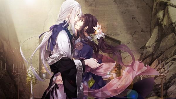 Tags: Anime, Yomi (Pixiv390297), Ken ga Kimi, Kayo (Ken ga Kimi), Kuroba Saneaki, Facebook Cover, CG Art