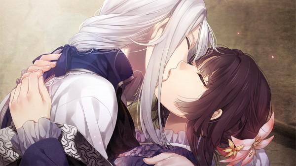 Tags: Anime, Yomi (Pixiv390297), Ken ga Kimi, Kayo (Ken ga Kimi), Kuroba Saneaki, CG Art, Facebook Cover