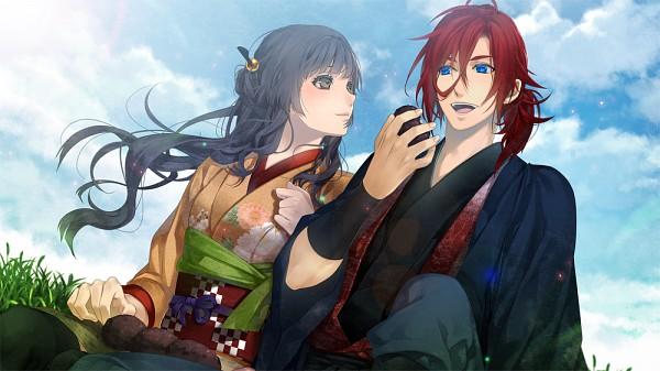 Tags: Anime, Yomi (Pixiv390297), Ken ga Kimi, Enishi (Ken ga Kimi), Kayo (Ken ga Kimi), Facebook Cover, CG Art