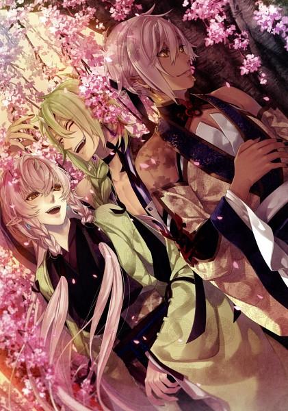 Tags: Anime, Yomi (Pixiv390297), Rejet, Ken ga Kimi, Shiguragi, Zantetsu, Kei (Ken ga Kimi), Hand on Stomach, Official Art