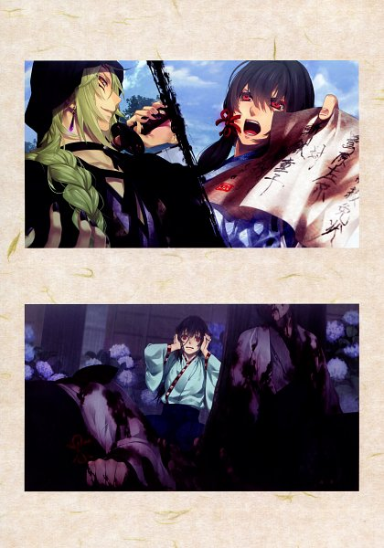 Tags: Anime, Yomi (Pixiv390297), Rejet, Ken ga Kimi Wafuu Denki Emaki, Ken ga Kimi, Sagihara Sakyou, Zantetsu, Official Art, Scan