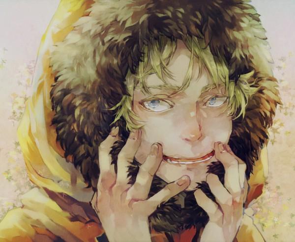 Tags: Anime, Jaguchi (Bbbing), South Park, Kenneth McCormick, Orange Jacket, Parka, Orange Outerwear, Colored Eyelashes, Pixiv, Fanart From Pixiv, Fanart