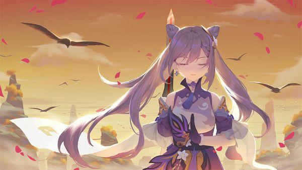 Tags: Anime, Pixiv Id 14109822, Genshin Impact, Keqing, Purple Handwear