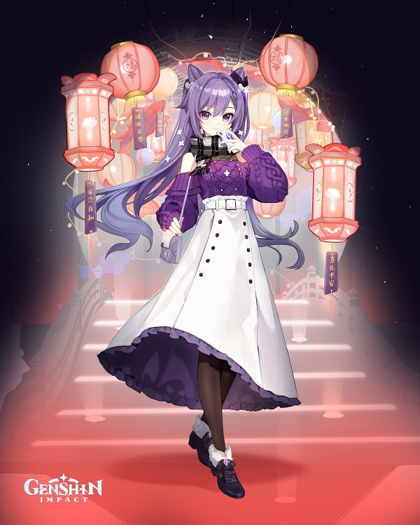Tags: Anime, miHoYo, Genshin Impact, Keqing, Twitter, Official Art