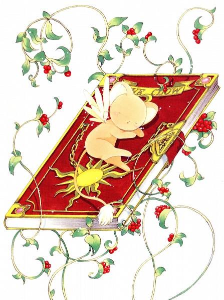 Tags: Anime, CLAMP, Cardcaptor Sakura, Cardcaptor Sakura Illustrations Collection 1, Kero-chan, Clow Cards, Clow Book, Scan, Official Art