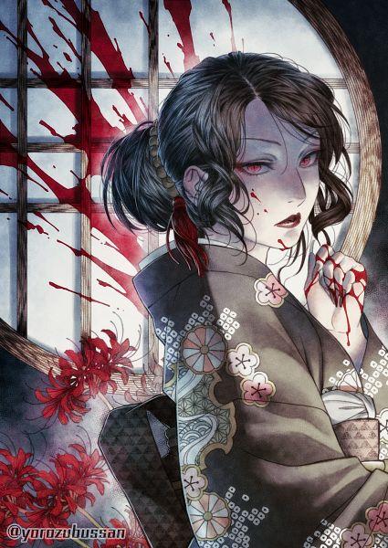 Tags: Anime, Pixiv Id 24726, Kimetsu no Yaiba, Kibutsuji Muzan, Pixiv, Fanart, Fanart From Pixiv